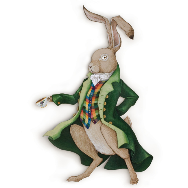 <h3>The March Hare</h3>             	<p>from Lewis Carroll's<br/><em>Alice in Wonderland</span></em>