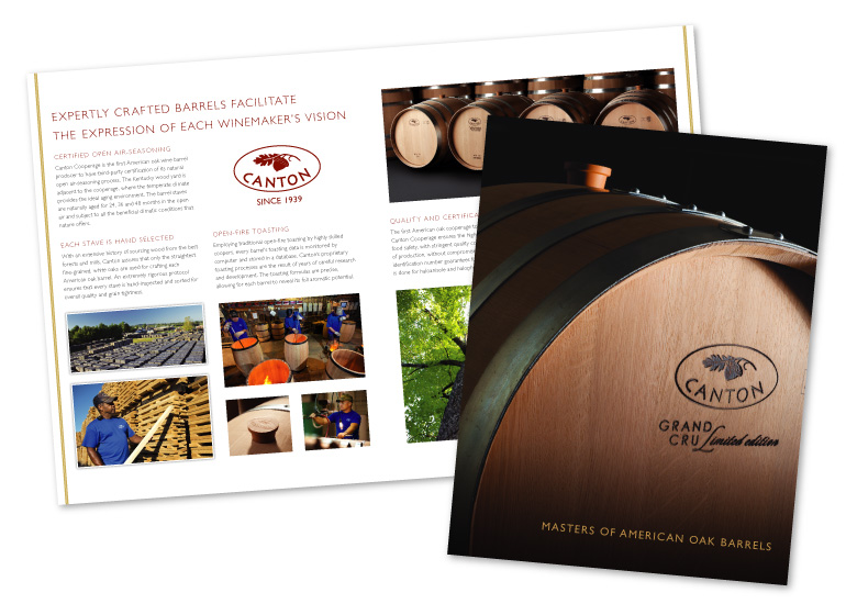 Canton Cooperage | Brochure and Sales Sheets