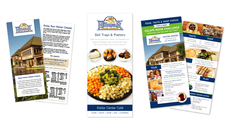 Hilmar Cheese Company | Nutrition Insert, Catering Brochure, Rack Card