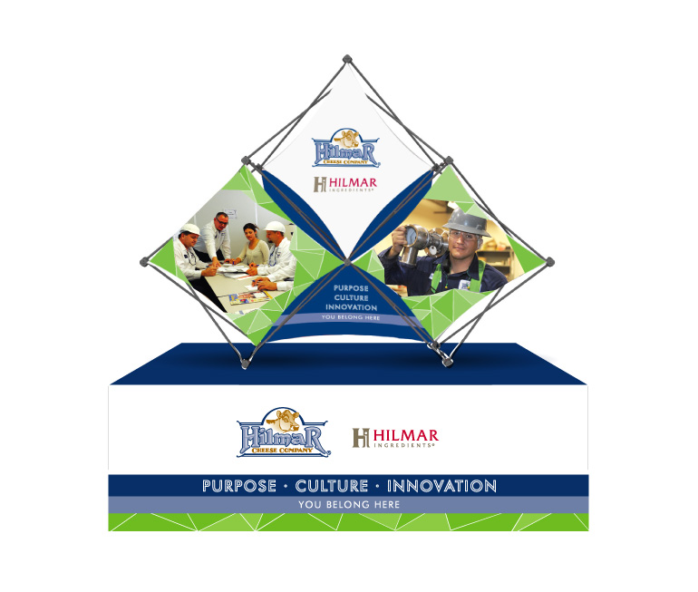 Hilmar Cheese Company Recruiting Display | Tradeshow & Banners