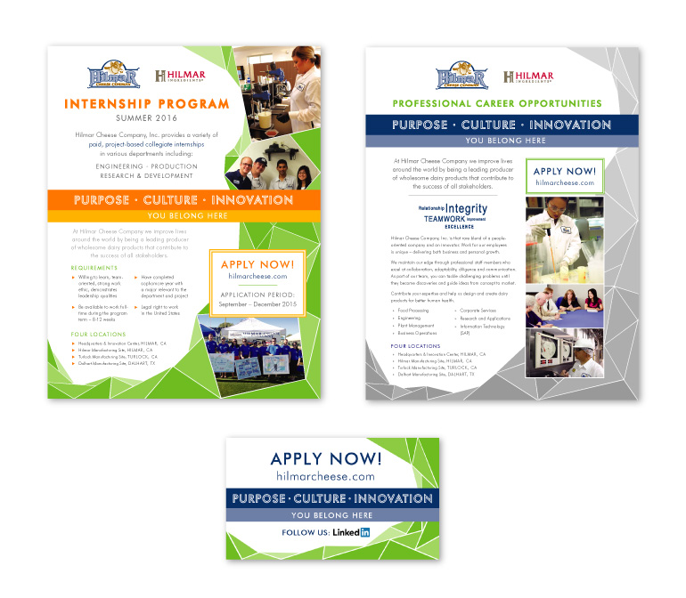 Hilmar Cheese Company | Recruiting Materials